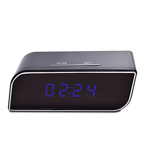 WiFi Hidden Camera Alarm Clock Full HD 1080p Wireless IP Security Camera Real Time View Spy Camera Motion Detection Video Nanny Cam Remote Contral By App - Ban Video