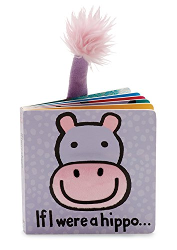 Jellycat Baby Touch and Feel Board Books, If I Were a Hippo