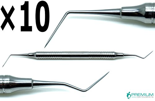 10× Dg16 Endo Explorer Dental Diagnostic Instruments Hollow Handle Double Ended Stainless Steel Tool by Premium Instruments