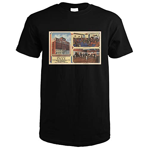 Ad for Army/Navy Y.M.C.A. Building 10064 (Black T-Shirt Small)