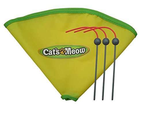 Aolikes Undercover Mouse Replacement Spare Wand and 23 Nylon Skirt for Cat's Meow Cat Toy As Seen on Tv