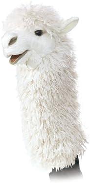 Folkmanis Alpaca Stage Puppet, White (2885)
