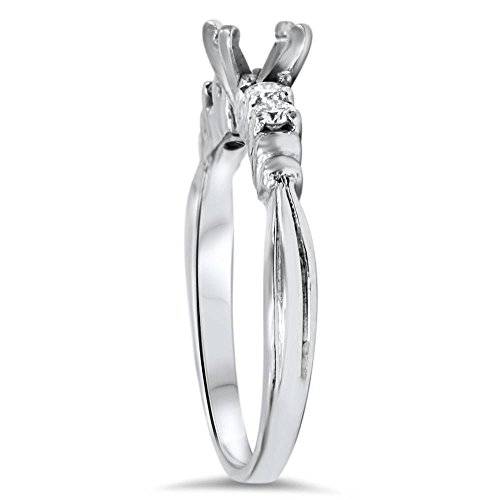 1/3ct Diamond Engagement Semi Mount Ring Setting 14K