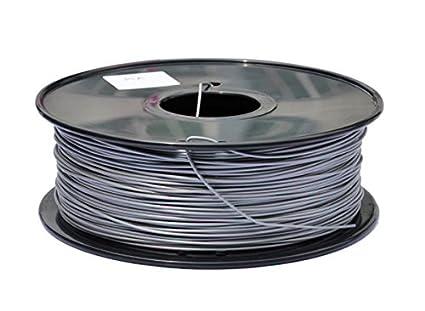 3d impresora filamento 1.75 mm PLA 1 kg bobina (metálico), color ...