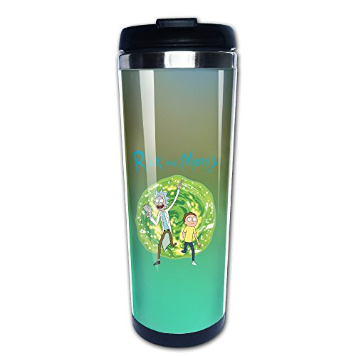 Rick And Morty Traveler Coffee Cup, 400ml, Stainless Steel (Channel Coffee Cup compare prices)