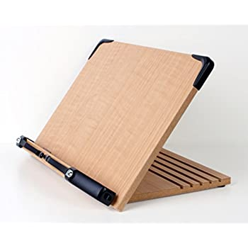 A+ Book Stand BS1500 Book Holder w/ Adjustable Foldable Tray and Page Paper Clips-Cookbook Reading Desk Portable Sturdy Lightweight Bookstand-Textbooks Bookstands-Music Books Tablet Cook Recipe Stands
