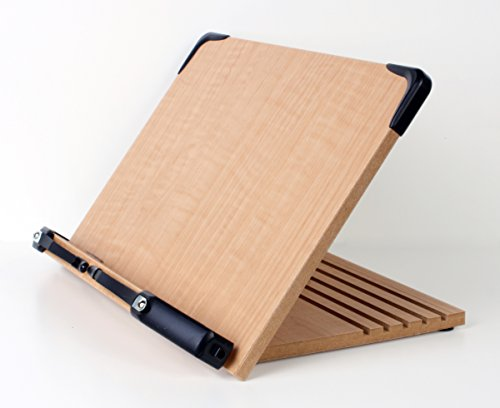 A+ Book Stand BS1500 Book Holder w/ Adjustable Foldable Tray and Page...