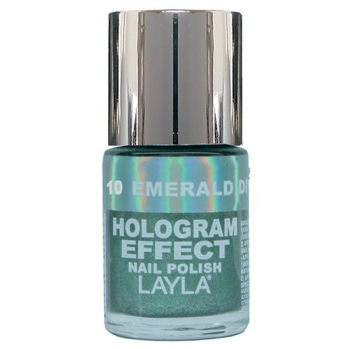 Layla Hologram Effect Nail Polish, Emerald Divine, 1.9 - Lacquer Emerald