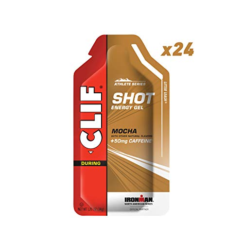 CLIF SHOT - Energy Gel - Mocha - (1.2 Ounce Packet, 24 -
