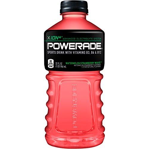 POWERADE, Electrolyte Enhanced Sports Drink w/ vitamin, Watermelon Strawberry Wave, 32 fl oz