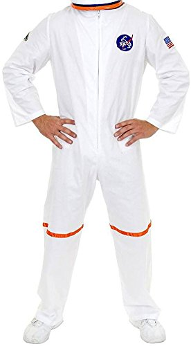 Orange Astronaut Jumpsuit Adult Mens Costumes (Adult X-Small 34-36 White NASA Astronaut Space Suit Costume)