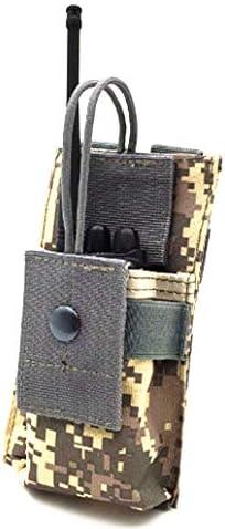 abcGoodefg 1000D Adjustable Molle Tactical Pouch Radio Holster Case Walkie Talkie Holder Duty Belt 5.3x 3.5x 1.6 Black, 1 Pack