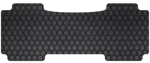 Intro-Tech MI-630-RT-B Hexomat Third Row 1 pc. Custom Fit Auto Floor Mat for Select Mitsubishi Outlander Models - Rubber-Like Compound, Black - Mitsubishi Outlander Custom Mats