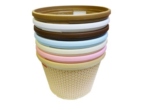 Plastic Stylish Rattan Toy General Basket Curver Style Large Round Laundry Basket (Brown)