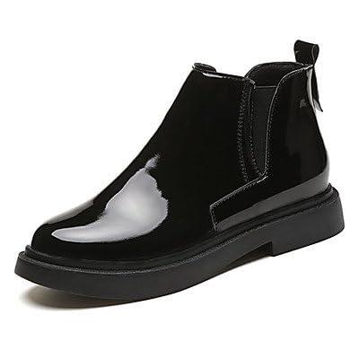 RTRY Chaussures pour femmes Bottes confort Automne Pu Talon bout rond bottes Mid-Calf Gore pour Casual Black