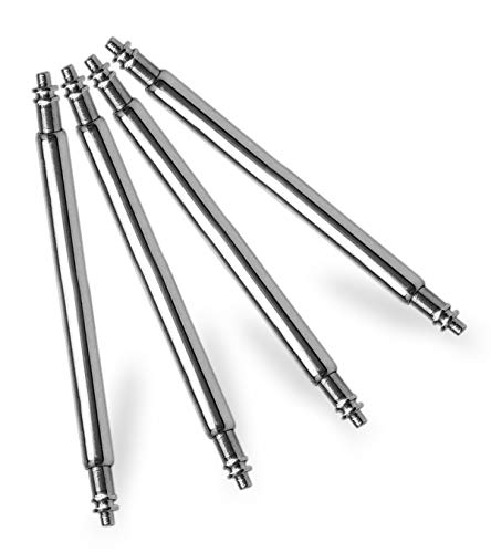 Watch Pins Strap -  HEAVY DUTY 22mm SPRING BAR 1.8mm thickness Packet of Four Stainless Steel Watch Pins