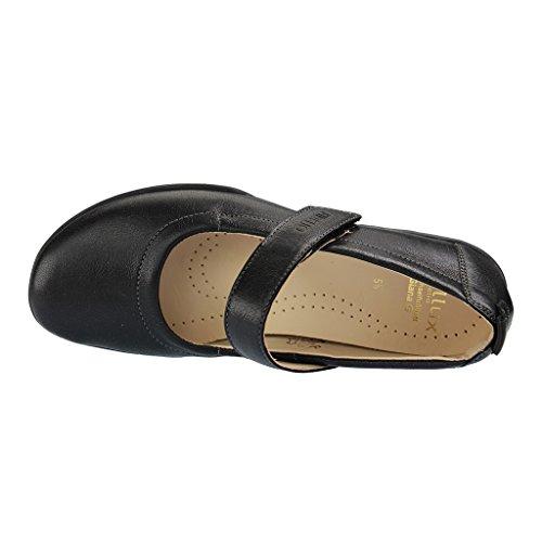 Fidelio 395006 80 Hallux Giana G Women's Mary-Jane Shoe In Black Grained Leather 57 Black dXIkYcGLx9