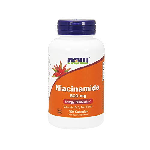 NOW Niacinamide 500mg,100 Capsules