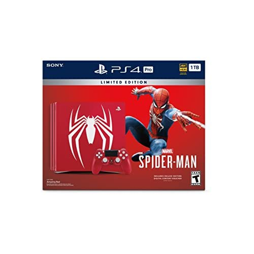 PlayStation 4 Pro 1TB Limited Edition Console – Marvel's Spider-Man Bundle [Discontinued] 41k1r9TwgYL  Home Page 41k1r9TwgYL