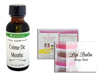 Creme De Menthe Recipe (LorAnn Flavoring 1 Ounce (29.5 mL), Threaded Dropper, 2 Recipe Card Bundle (Creme De Menthe))