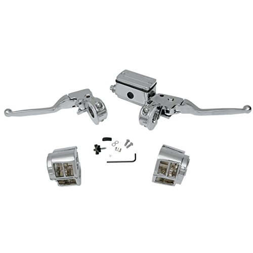 Handlebar Switch Cycle Country (Chrome Handlebar Controls with Switch Housings for 1990-1995 Harley-Davidson Dyna Softail and Sportster models with Single Front Disc brakes - HC-HBC126)