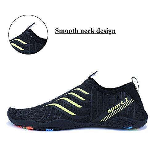Agua de 2 negro WYSBAOSHU Escarpines para Mujer Deportes Zapatos Hombre E7w5qPwfx
