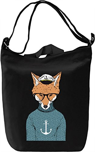 Sailor fox Borsa Giornaliera Canvas Canvas Day Bag| 100% Premium Cotton Canvas| DTG Printing|