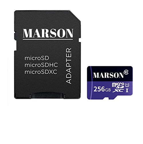 MARSON 256GB Micro SD Card High Speed Class 10 Micro SD SDXC Memory Card With Adapter by Marson (Image #1)