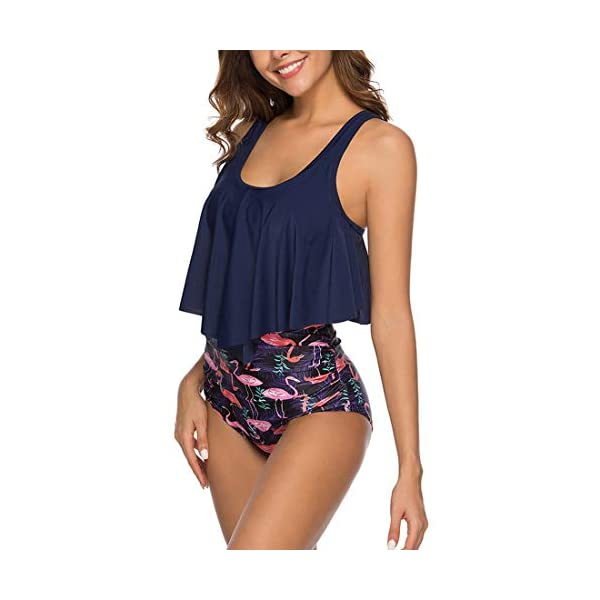 IVYSHION Costumi da Bagno Donna Due Pezzi Push Up, Set Bikini Top Costume da Bagno Donna Sexy Halter Criss Cross…