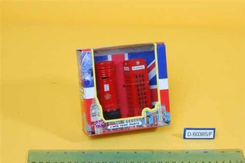 (London City Post Box & Telephone Booth by Party)