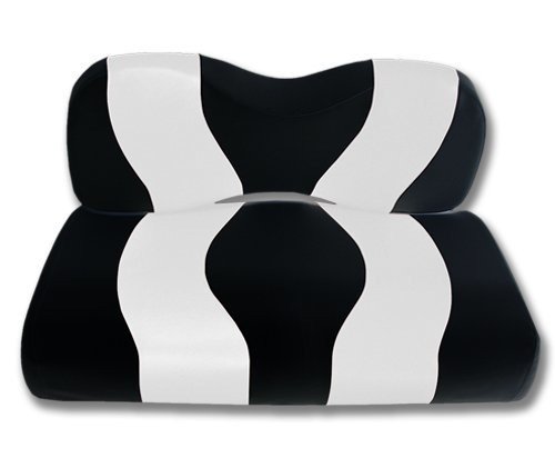 Madjax Wave 2007-Up Black/White Two-Tone Front Seat Cover fo