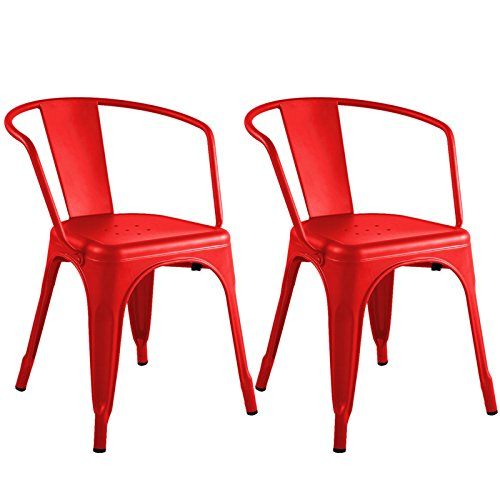 Set of 2 Metal Steel Stools Vintage Antique Style Counter Barstools Red Rustic Chair New #750 (Cheap Pa Furniture Lancaster)
