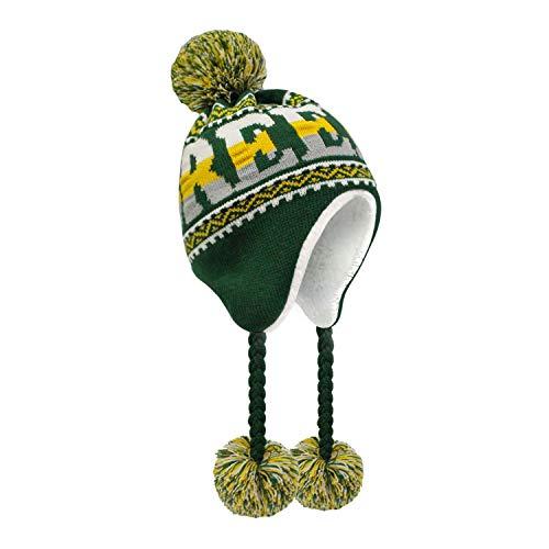 ChoKoLids Football Team City Name Knitted Pom Pom Earflap Winter Hat - 23 Cities (Green Bay)