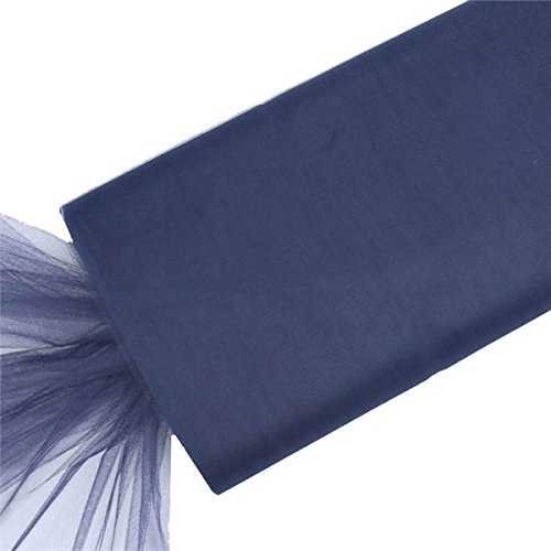Discount Veils Wedding (BalsaCircle 54-Inch x 120 feet Navy Blue Large Net Tulle Fabric by the Bolt - Wedding Party Decorations Sewing DIY Crafts Costumes)