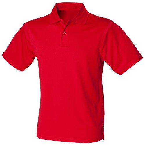 Henbury Herren Polo-Shirt Coolplus Pique (3XL) (Rot)