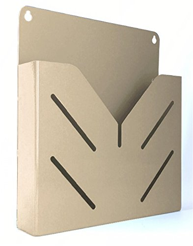 VICS Single Pocket Wall Mounted Steel Clipboard/File Holder-Almond - Portrait Wall Pocket
