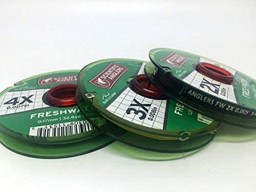 Tippet Pack - Scientific Anglers Freshwater Nylon Tippet - 3 Pack 3X, 4X, 5X