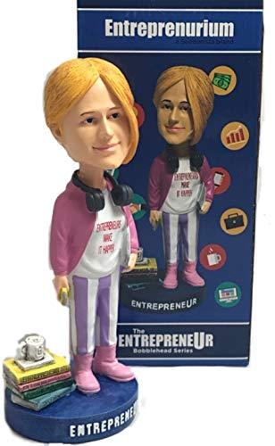 Hand Painted Bobble Head - Entreprenurim Bobbleheads | Hand Painted Entrepreneur Bobblehead Figure | Unique Novelty Gift Idea | Premium BobbleHead Figurines for Office & Car | Motivational Dashboard, Decor & Desk Ornament