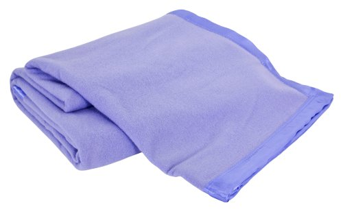 Creswick Luxurious All-Natural 100-Percent Australian Merino Wool Oversized Blanket, King, Ice Blue