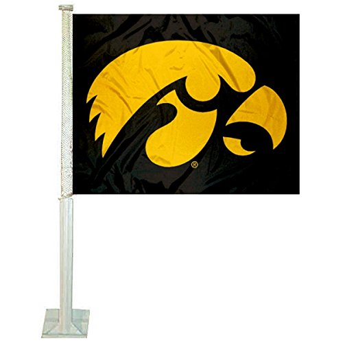 - Iowa Hawkeyes Black Car and NCAA Auto Flag
