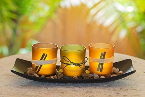 home, kitchen, home décor, candles, holders, candleholders,  tea light holders 3 picture Dawhud Direct Natural Candlescape Set, 3 Decorative Candle deals