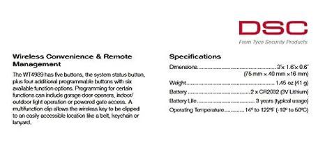 DSC 2 Vías inalámbrico clave wt4989 (con icono ...