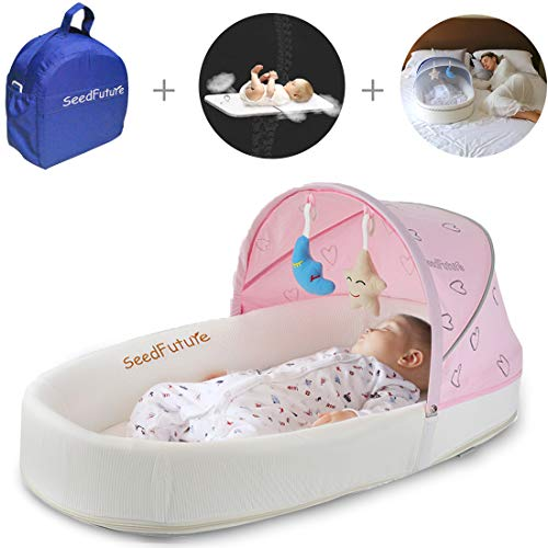 Baby Lounger, Portable Baby Bed for Newborns with 1 for sale  Delivered anywhere in USA