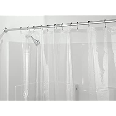 mDesign PEVA 3G Shower Curtain Liner (PACK of 2), PVC-FREE, MOLD & MILDEW Resistant, ODORLESS - No Chemical Smell, 72  x 72  - Clear