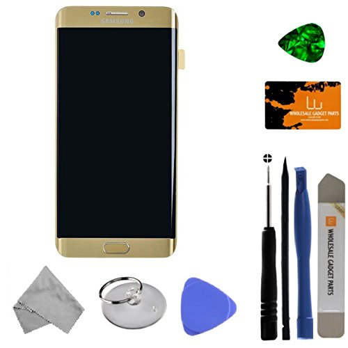 LCD, Digitizer & Frame Assembly for Samsung Galaxy S6 Edge+ (Gold) (OEM) with Tool Kit by Wholesale Gadget Parts (Image #2)