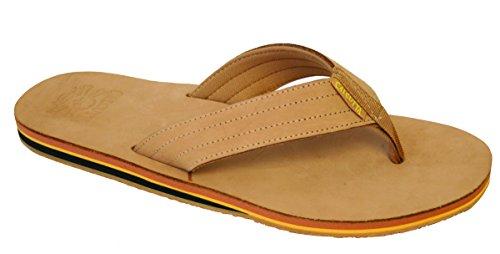 Calcutta Cfmtf9 Nubuck Flip Flop, Tan