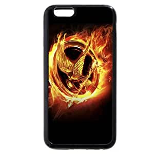 New Zeng Customized Black Soft Rubber(TPU) iPhone 6 4.7 Case, The Hunger Games iPhone 6 case, Only fit iPhone 6(4.7 Inch)