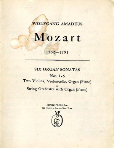 Six Organ Sonatas Nos. 1-6 - Two Violins, Violoncello, Organ (Piano) or String Orchestra with Organ (Piano)