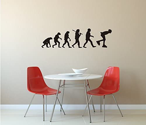 InLine Kate, pared adhesivo, Evolution, Skate, Patines en línea, diferentes colores y Tamaños, madera, M010 Weiß, 450 mm x 120 mm: Amazon.es: Hogar