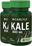 Carlyle Kale Extract 800mg, 2 Bottles, 60 Capsules | Non-GMO and Gluten Free